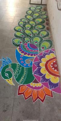 Peacock  Rangolis for you