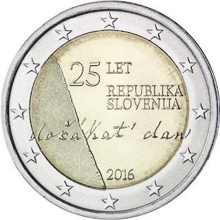 2€ 25 ans de l'Indépendance de la République de Slovénie