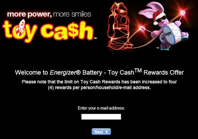 Energizer Toy Cash