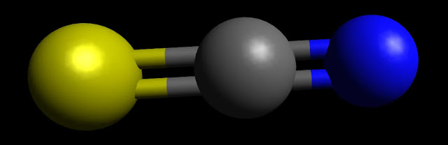 SCN Ball and Stick Model