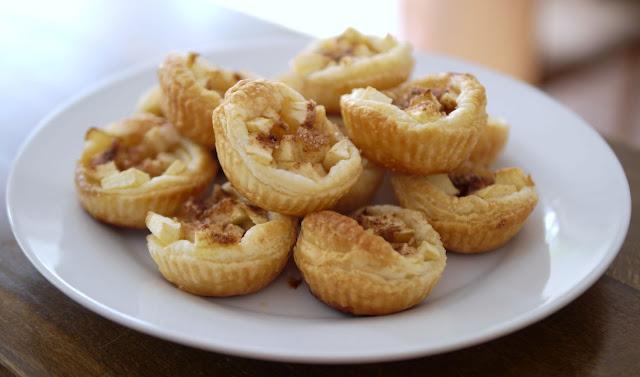 Mini-Blätterteig-Muffins mit Äpfeln  | Backen | Gebäck | Rezept