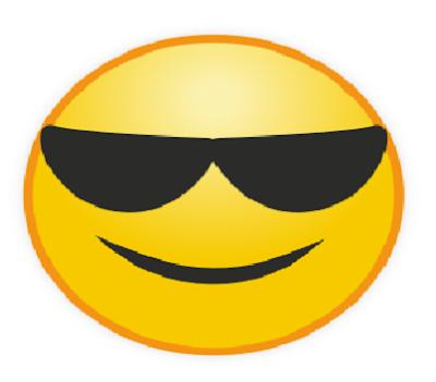Gambar Emot WA With Sunglasses