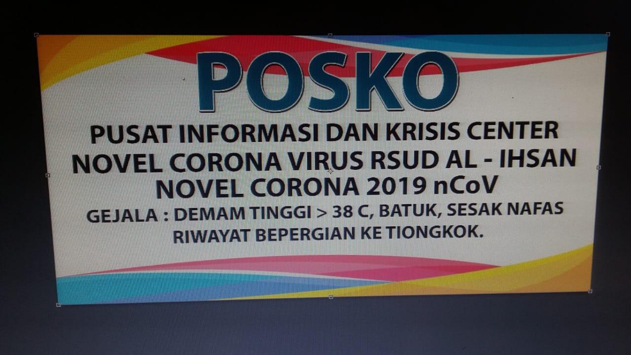 RSUD AL Ihsan Buka Posko Coronavirus