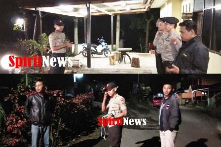 Antisipasi Kejahatan Malam Hari, Kapolsk  Tinggimoncong Gowa, Iintens Laksanakan Mobile Hunting
