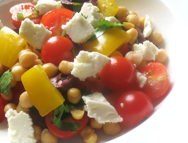 Chickpea, Olive and Feta Salad