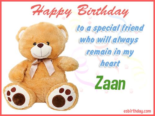 Zaan Happy Birthday friend