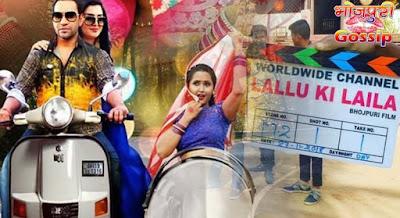Dinesh Lal Yadav Nirahua, Amrapali Dubey, Kajal Raghwani's Bhojpuri Film 'Lallu Ki Laila' shooting has begun in Mumbai