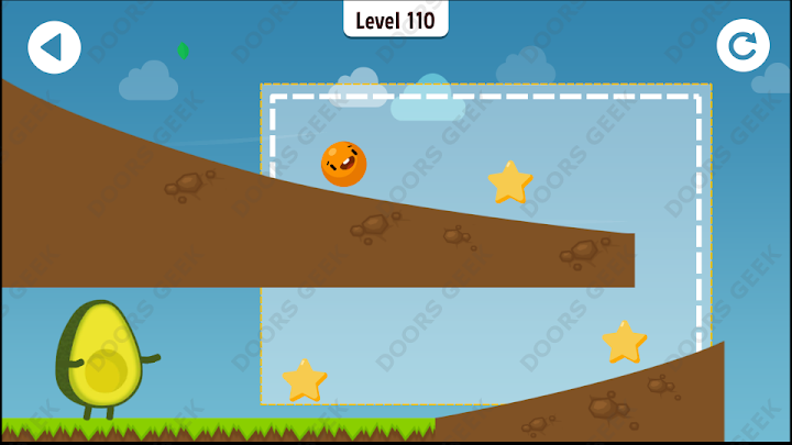 Where's My Avocado? Level 110 Solution, Cheats, Walkthrough, 3 Stars for Android, iPhone, iPad and iPod