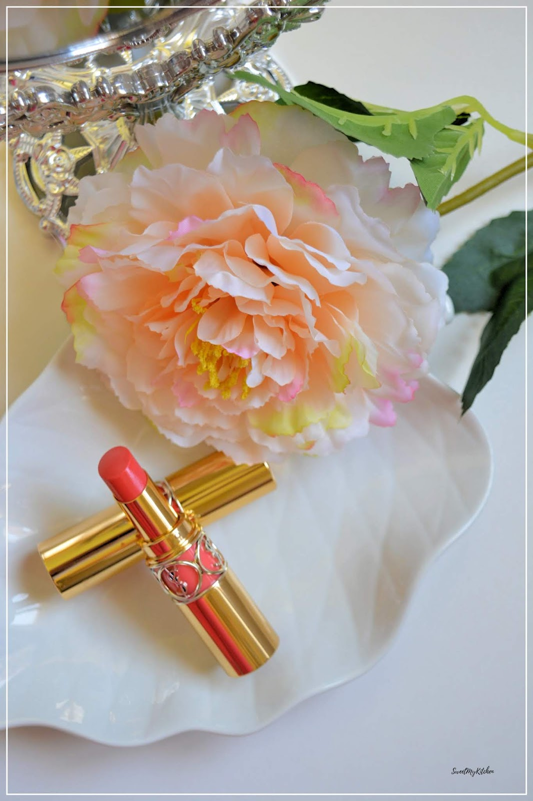 Ysl makeup lipstick review rose rive gauche