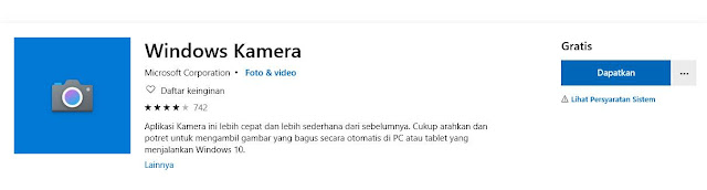 Instal ulang Aplikasi Kamera Windows