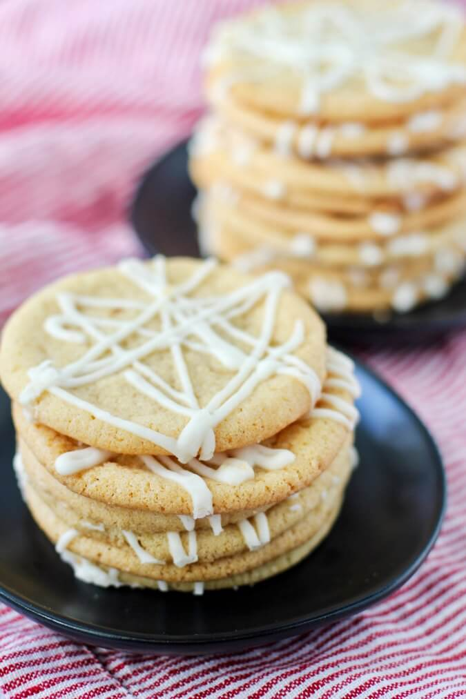 Maple sugar cookies on plates