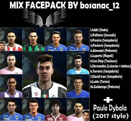 PES 2013 Mix Facepack