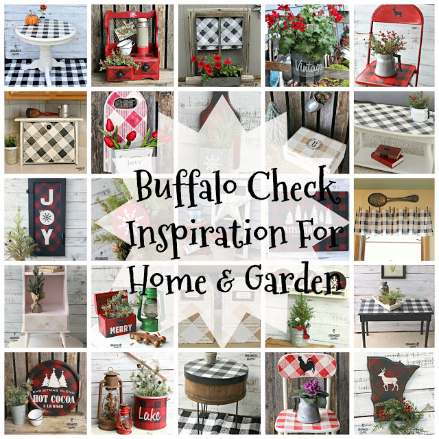 Buffalo Check Stencil Inspiration #buffalocheck #stencil #upcycle #oldsignstencils