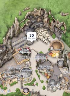 Star Wars Galaxy's Edge Disneyland Map Wait Times September 2019