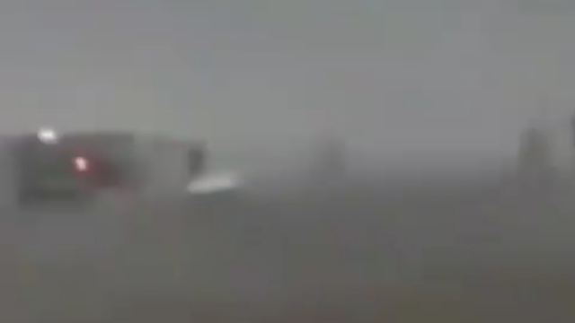 A look at the cars and trucks for the silver metallic UFO in Siberia, Russia.