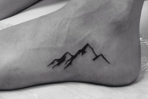 Amazing Heels Mountain Tattoos