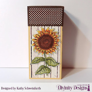 Stamp/Die Duo: Be A Sunflower, Custom Dies: Treat Tower, Ovals, Scalloped Ovals, Paper Collections: : Weathered Wood Collection, Fall Favorites