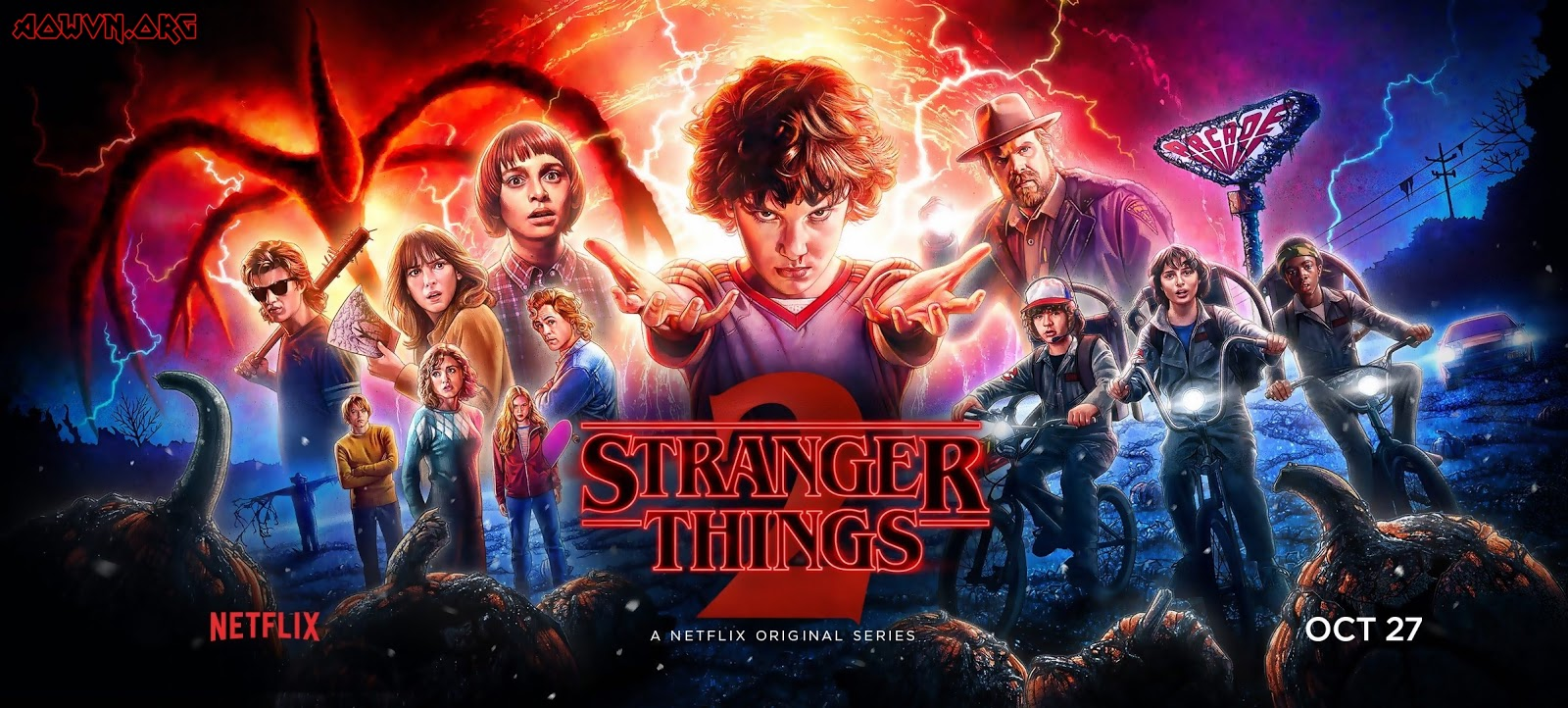stranger things poster - [ Phim 3gp Mp4 ] Stranger Things SS1 + SS2 | Vietsub - Siêu phẩm Netflix - Kinh Dị - Viễn Tưởng