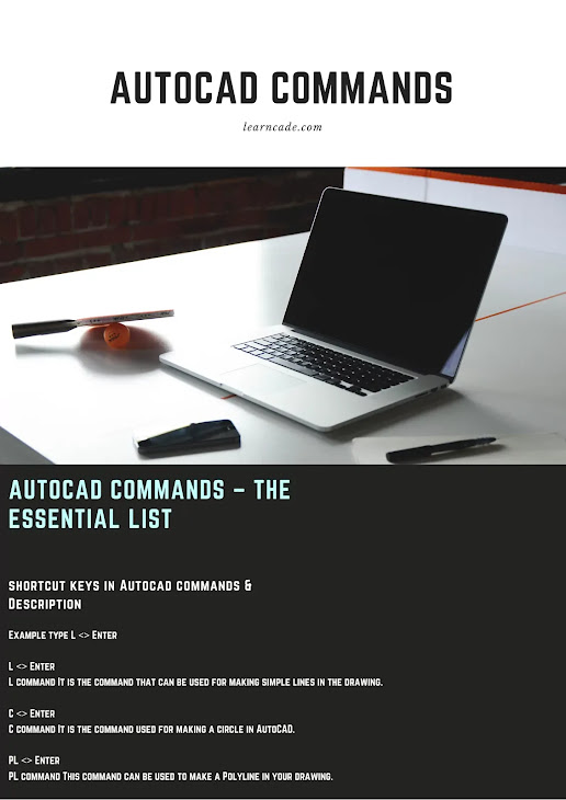 AutoCAD commands with PDF File eBook included