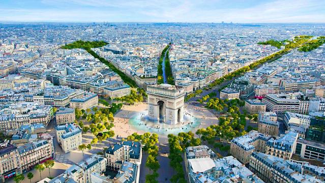 Champs-Élysées, Famous Tourist Destinations and Luxury Shopping Centers in Paris