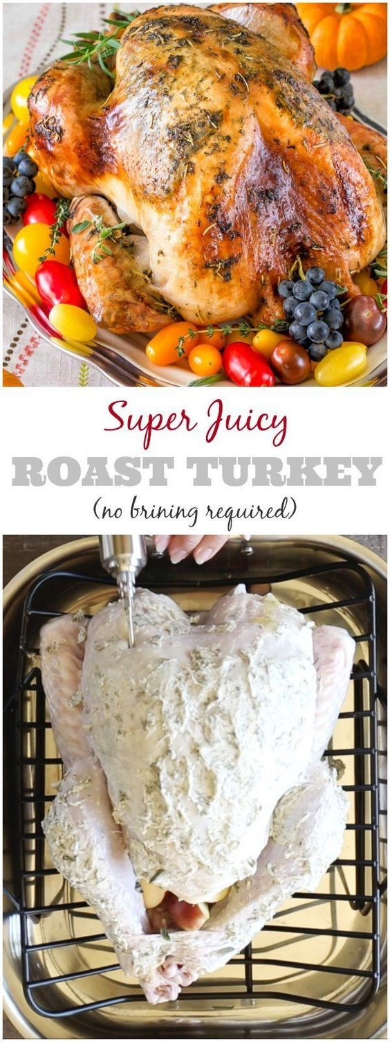 Super Juicy No Brine Roast Turkey