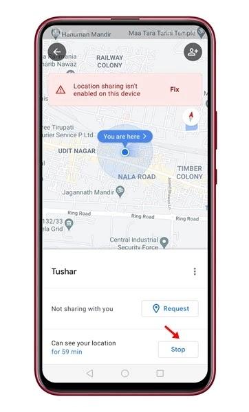 شرح مشاركة موقعك في الوقت الفعلي في خرائط جوجل