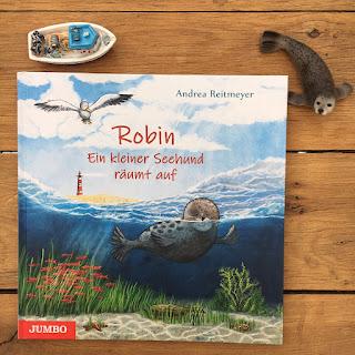 """""""Robin. Ein Seehund räumt auf"""" von Andrea Reitmeyer, erschienen im Jumbo Verlag"""