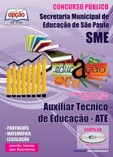 Apostila AUXILIAR TÉCNICO DE EDUCAÇÃO - ATE SME-SP