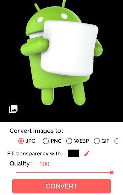Convert PNG to JPG using app