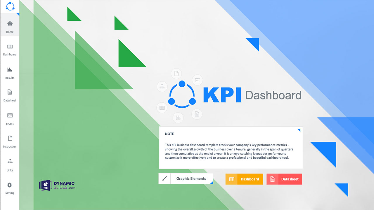 KPI Business - Free Dashboard Template