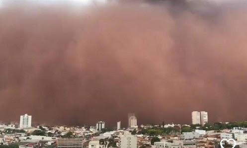 """""""Ora è successo in Brasile"""" Tempesta di sabbia ingoia le città  dell'entroterra di San Paolo e Minas!! Blog di alieni mistero"""