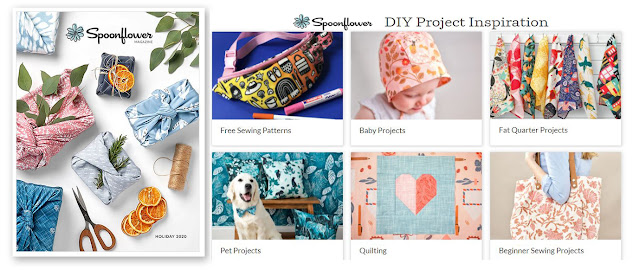 Spoonflower offers free inspirations and projects for your DIY projects