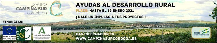 GDR CAMPIÑA SUR - AYUDAS DESARROLLO RURAL