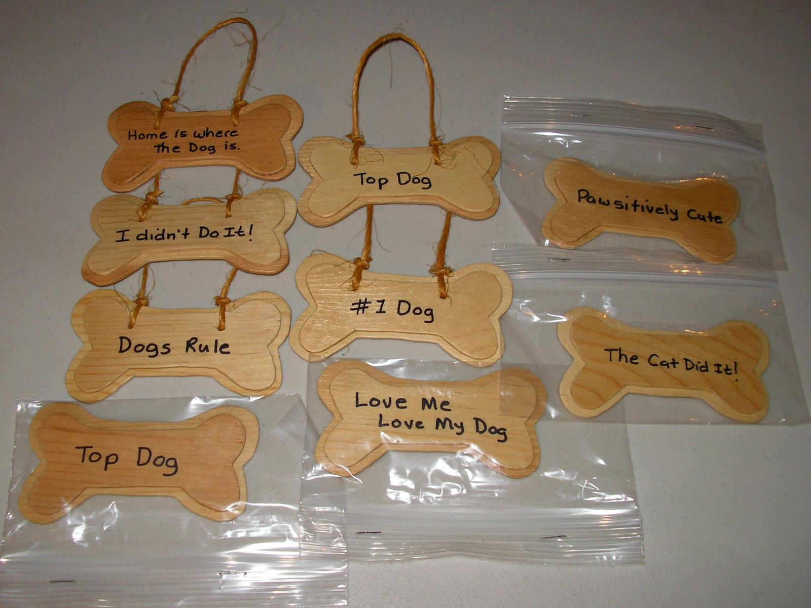 Doggie Plus Creations Dog Bone Signs