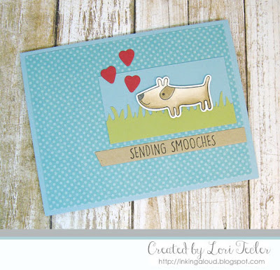 Sending Smooches card-designed by Lori Tecler/Inking Aloud-stamps and dies from My Favorite Things