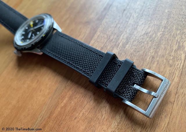Christopher Ward C65 GMT Worldtimer hybrid rubber strap