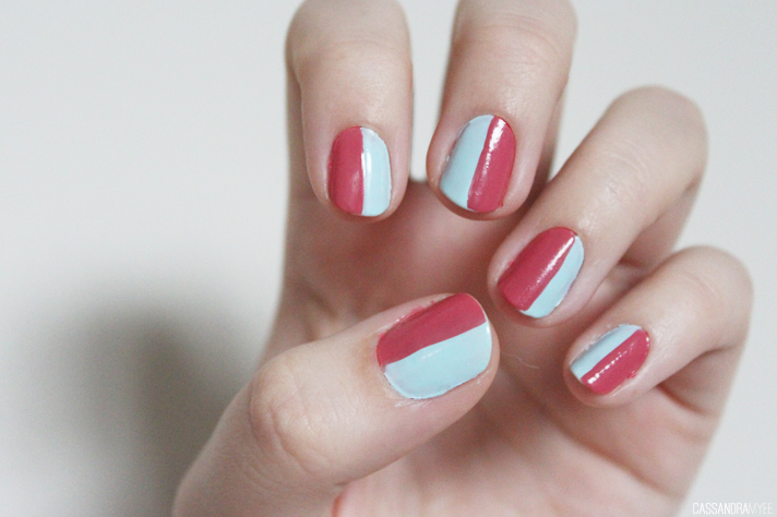 NOTD // Two Toned Nails | Ciaté Ferris Wheel + MUA Ameretto Crush - CassandraMyee