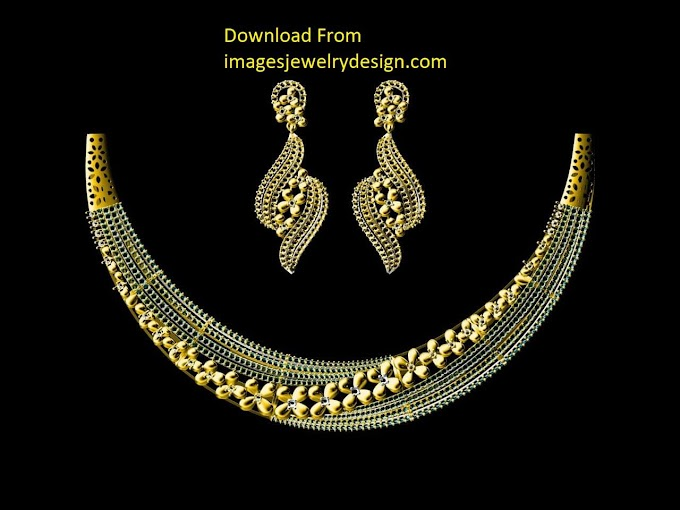 Gold necklace set design images | Necklace jewelry design in 2020