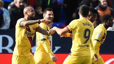 Video Cuplikan Gol: Leganes 1-2 Barcelona (LaLiga)