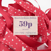 Hearts & Kisses Ribbon 15mm