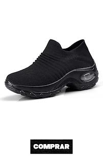 Zapatos Deporte Mujer Negras Zapatillas Deportivas Correr Gimnasio Casual Zapatos