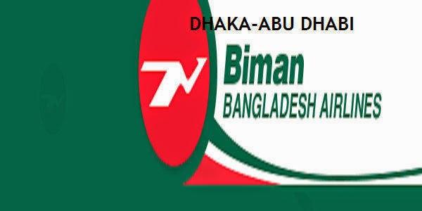 Dhaka-Abu Dhabi Biman Bangladesh Airlines FareTicket Price