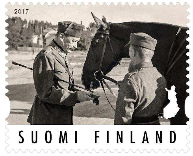 Postimerkki Mannerheimin kunniaksi 2017