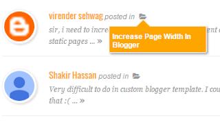 Cara Membuat Recent Comment Widget dengan Gambar Thumbnail di Blog