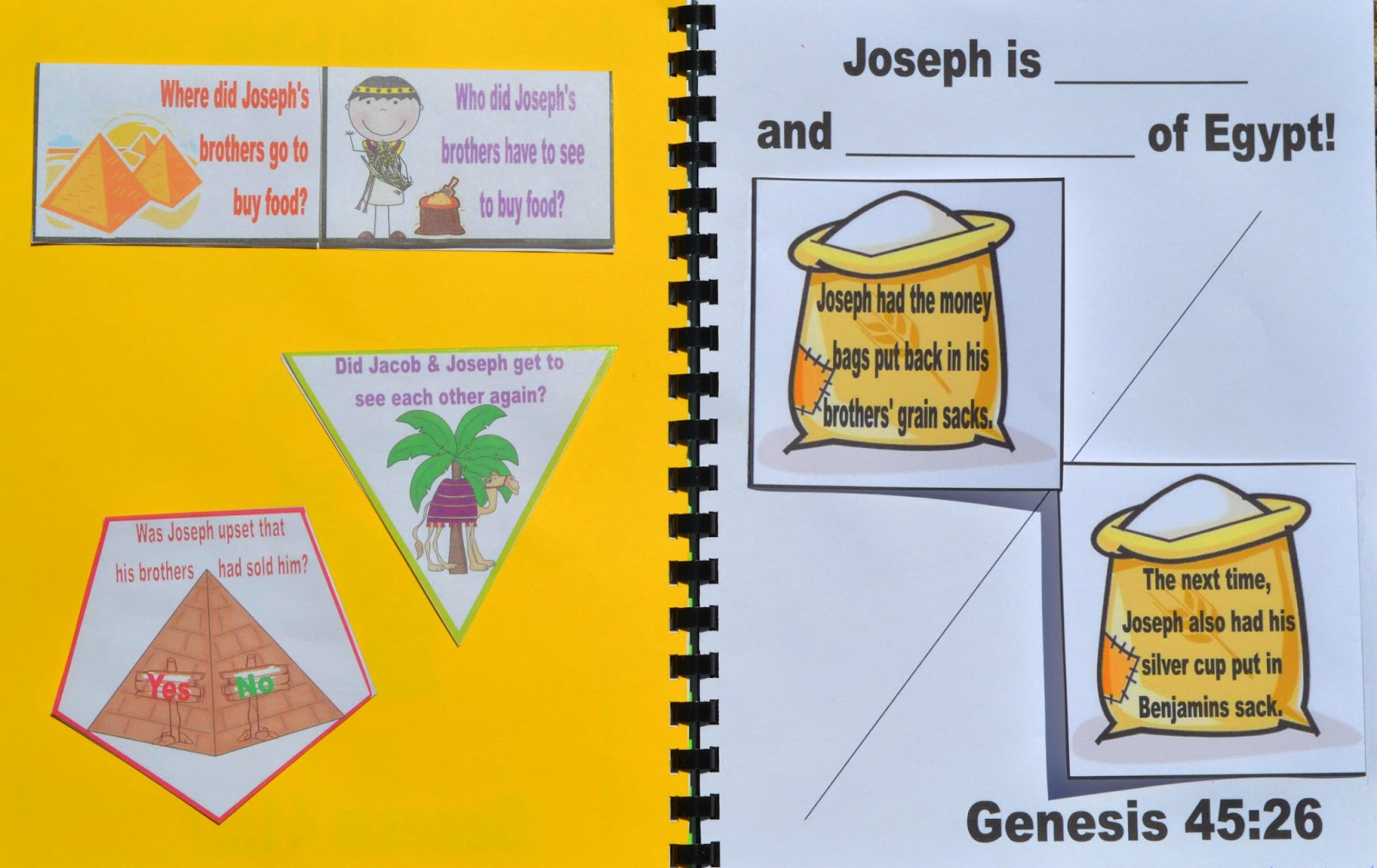 Bible Fun For Kids Genesis Joseph Reunited With His