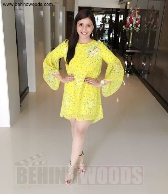 Actress Mannara Chopra Yellow Dress Photos Actress Trend