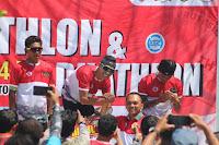 Lomba Triathlon tingkat Nasional di Kobi, Peserta dari Sumatera Selatan Raih Juara 1