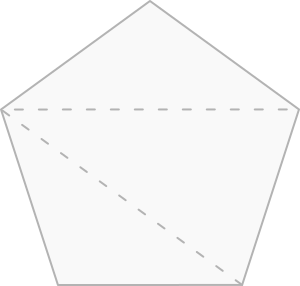 Pentágono decomposto em triângulos