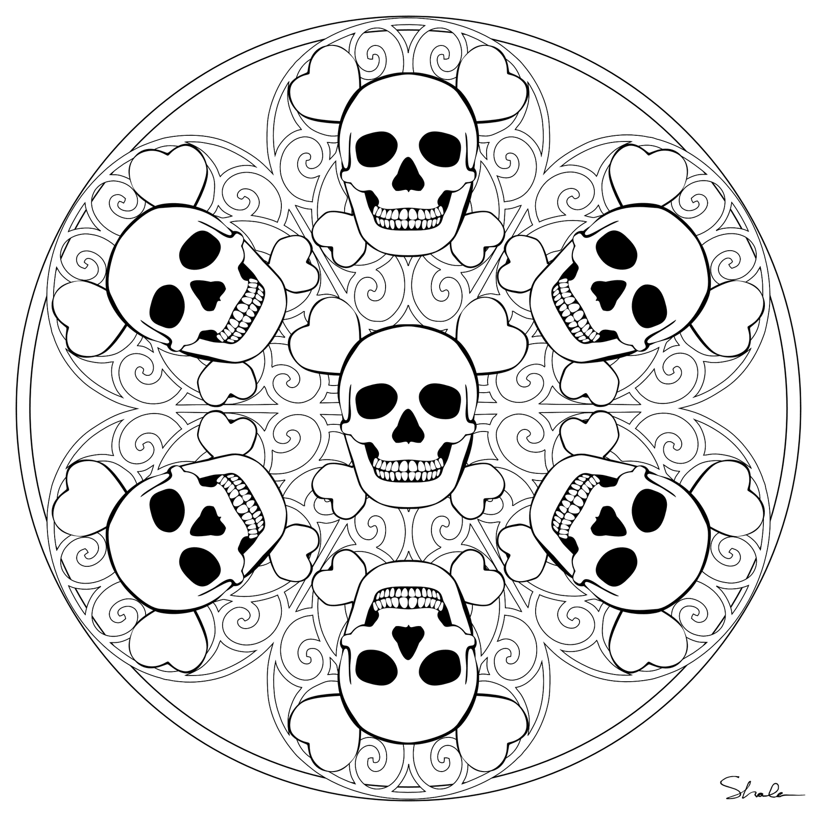 Mandala coloring pages halloween mandala coloring pages