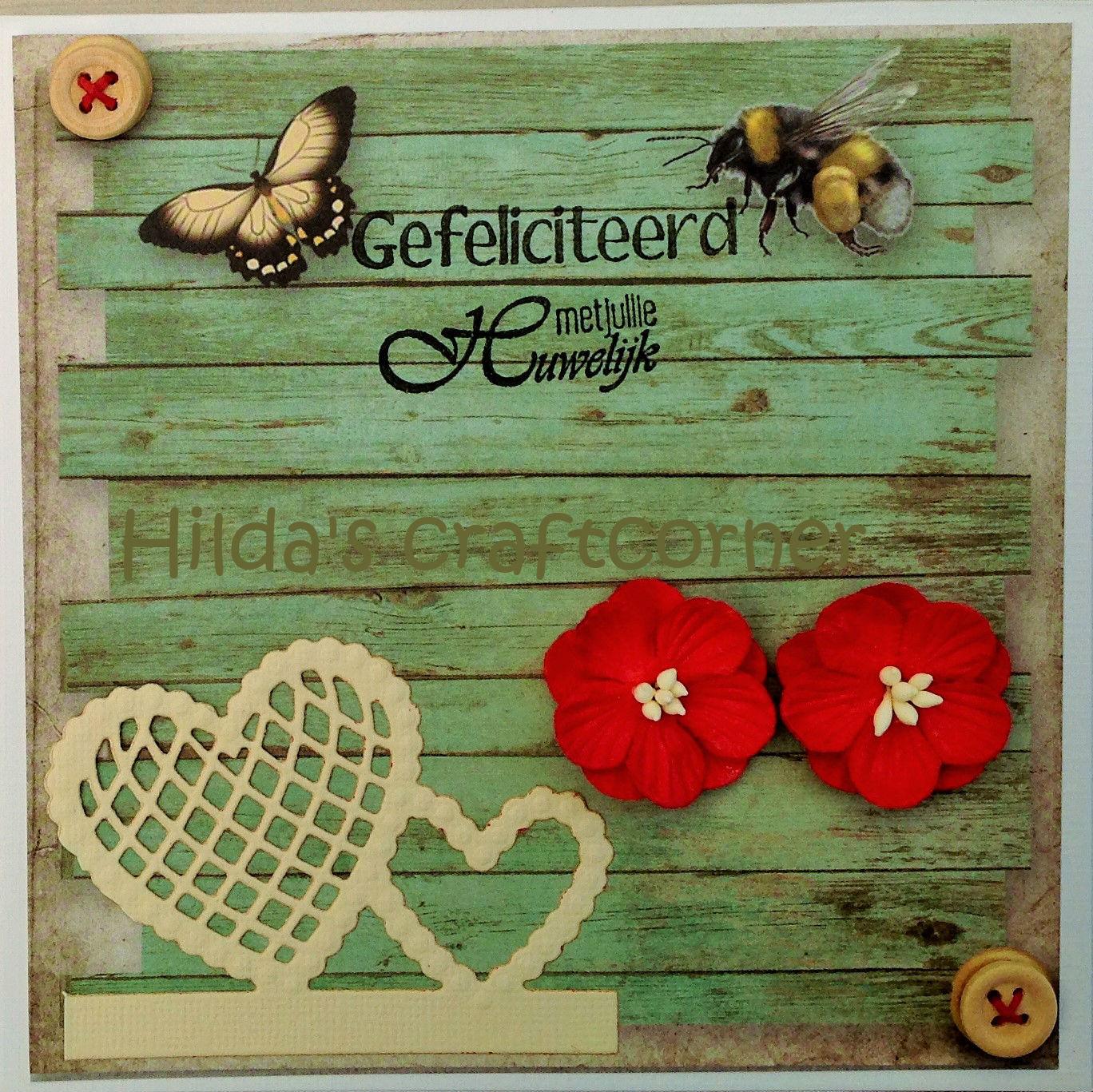 Hilda s craftcorner gefeliciteerd met jullie huwelijk